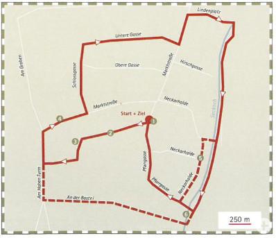 Plan für den Kennenlern-Spaziergang durch Trochtelfingen