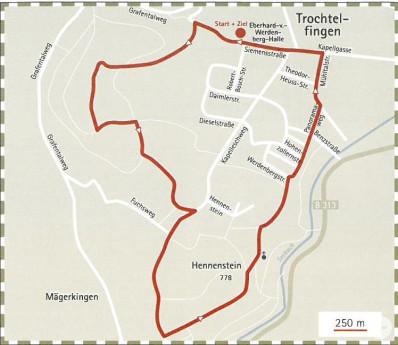 Plan für die zünftige Wanderung zum Hennenstein