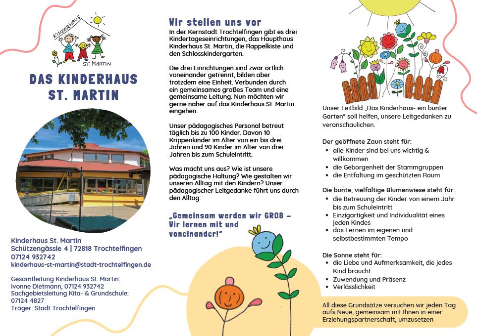 Flyer Kinderhaus St. Martin 1